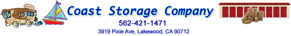 Coast Storage Company for RV, Boat, Travel Trailer and Self-Storage Units