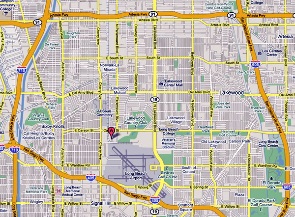 Lakewood California Map Location and Map of Coast Storage Company in Lakewood CA